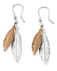 Plated Feather Earrings