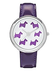 Ladies Westie Dial Strap Watch