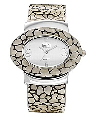 Ladies Oval Dial Bangle Watch