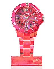 Ladies Pearlised Look Fob Watch