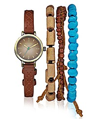Kahuna Vintage Look Watch & Bracelet