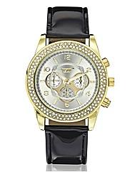 Golddigga Ladies Large Dial Watch