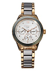 Esprit Gun-metal & Rose-tone Watch