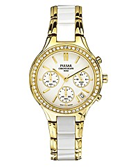 Pulsar Ladies Chronograph Bracelet Watch