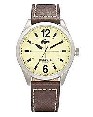 Lacoste Gents Brown Leather Strap Watch
