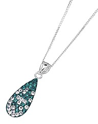Crystal Glitz Silver Drop Pendant