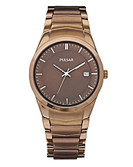 Pulsar Gents Slim Bracelet Date Watch