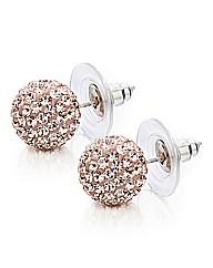 Shimla Clear Stone Round Earrings