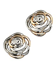 Hot Diamonds Rose-shaped Earrings