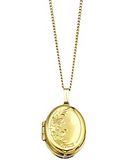 9 Carat Rolled Gold Oval Locket