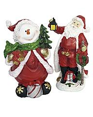 Singing Santa and Snowman Pack