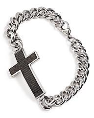 Stainless Steel Gents Cross Bracelet