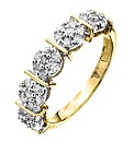 9 Carat Gold 1/4ct Half Eternity Ring