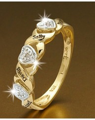 Precious Sentiments Half-Eternity Ring