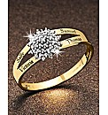 Precious Sentiments Gold Cluster Ring