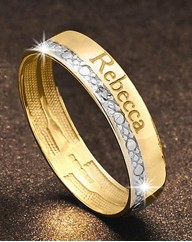 9 Carat Gold Personalised Band Ring
