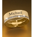 9ct Gold Gents Personalised Band Ring