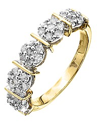 9 Carat Gold 1/2ct Half Eternity Ring