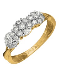 9 Carat Gold 1/2ct Diamond Cluster Ring