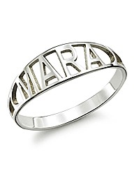 Sterling Silver Personalised Name Ring