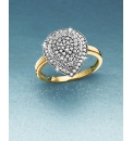 9ct Gold 1/2ct Diamond Cluster Ring