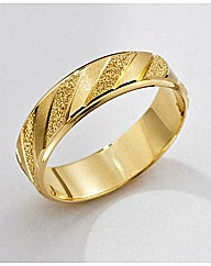 9 Carat Gold Detailed Wedding Ring