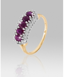 9ct Gold Ruby & Diamond Eternity Ring