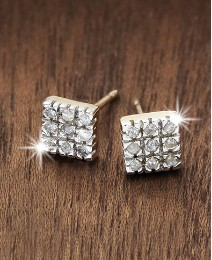 9ct Gold Diamond-Set Stud Earrings