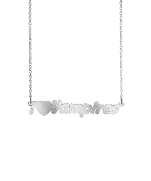Sterling Silver Text Necklace