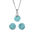 Sterling Silver Pendant & Earrings Set
