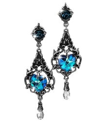 'Blue Heart' Earrings