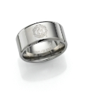 Stainless Steel Football Club Ring