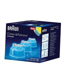 Braun Clean & Renew Pack of 3 Cartridges