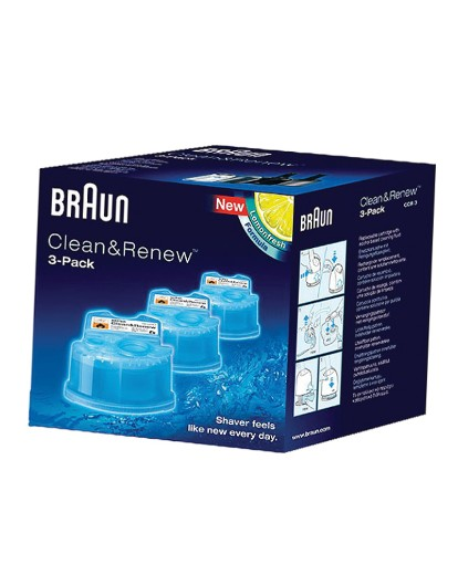 Braun Clean & Renew Pack of 3 Cartridges