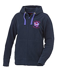 Ladies kickers zip Micro Fleece hood