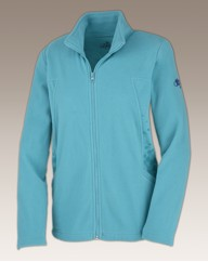 Body Star Ladies Polka Zip Fleece