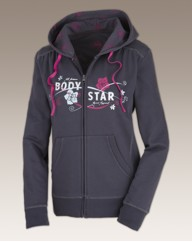 Body Star Full Zip Hooded Top Long