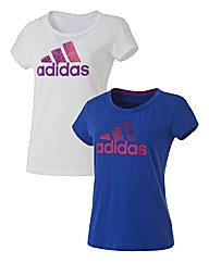 Adidas Ladies Pack of 2 Tee