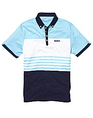 Kickers Mens Stripe Panel Polo