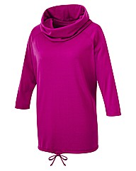 Body Star Yoga Cowl Slouch Top