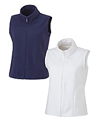 Body Star Pack of 2 Fleece Gilets