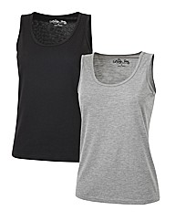 Body Star Pack of 2 Vests