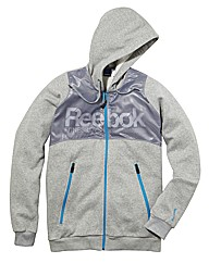 Reebok Mens Full Zip Hooded Top