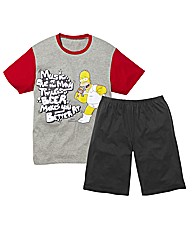 Simpsons PJ Short Set