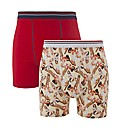 Pin Up Girl Pack of 2 Boxers