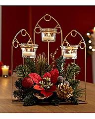 Poinsettia Tealight Holders