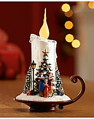 Dickens Choir Scene Candle Light