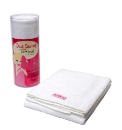 Diva Darling Terry Hair Towel White