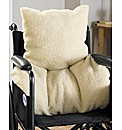 Faux Sheepskin Back Support Cushion