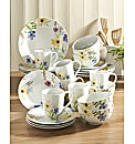24 Piece Spring Floral Dinnerware Set